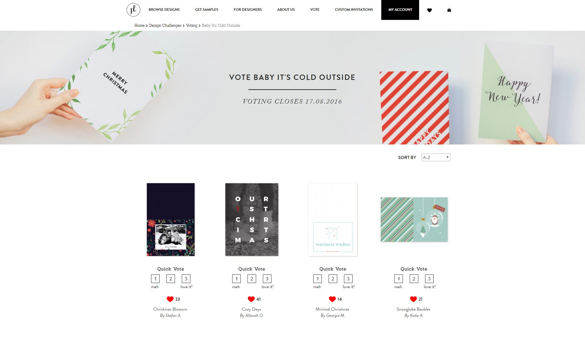 paperlust design challenge voting