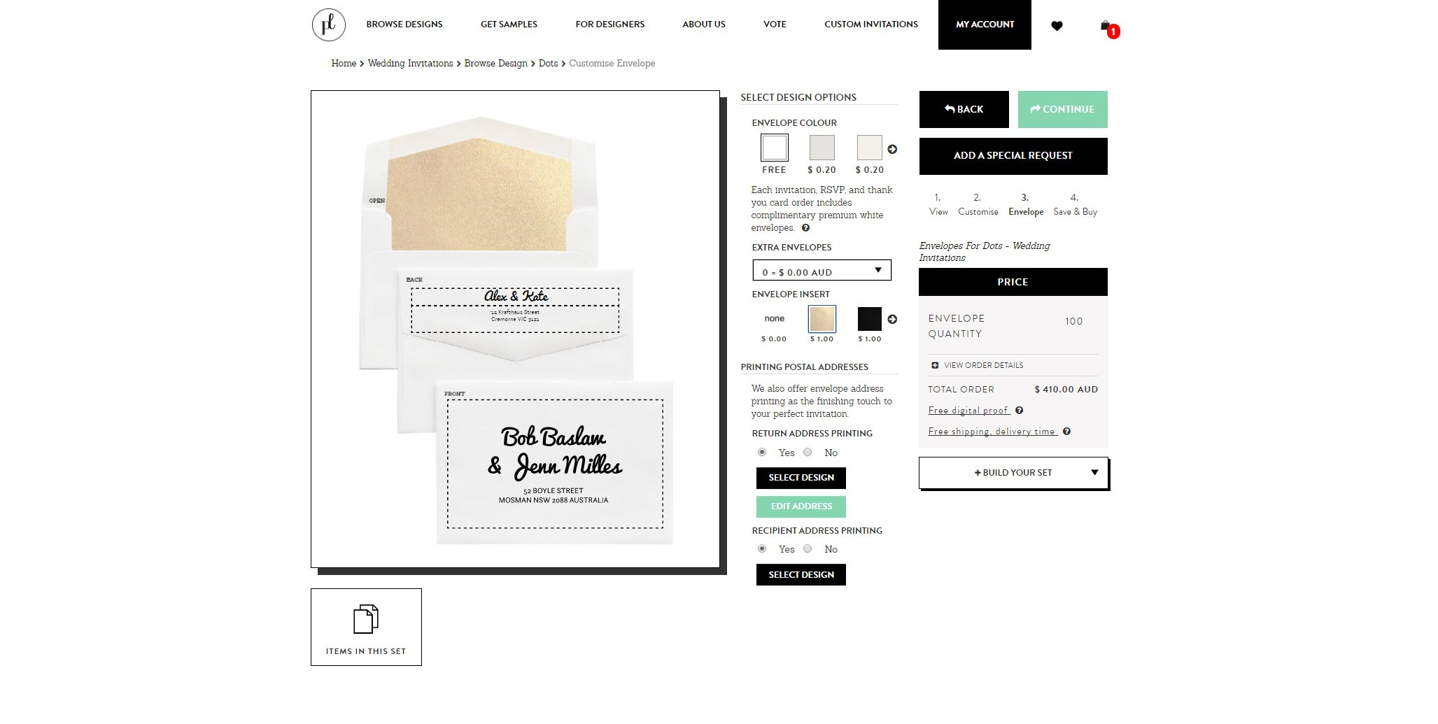 custom envelope tool