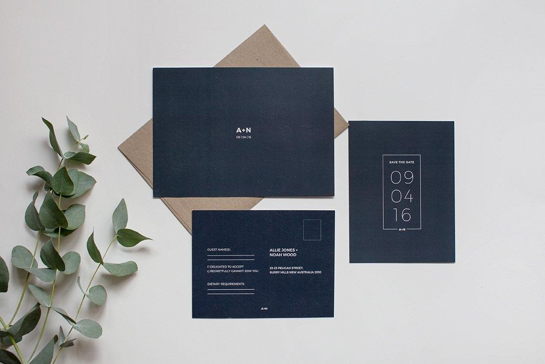 paperlust wedding invitation set sample