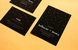 paperlust wedding invitation set sample